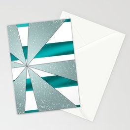 4Shades Glass: Blue White Stationery Cards