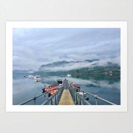 Loch Carron After a Rain Storm Art Print