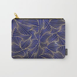 Tangles Blue and Gold Carry-All Pouch