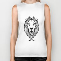 the lion king Biker Tanks featuring Lion King by ArtSchool