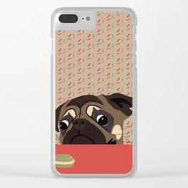 Le pug et le macaron Clear iPhone Case