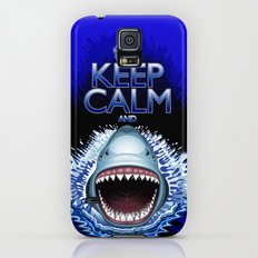 Keep Calm and...Shark Jaws Attack! Slim Case Galaxy S5