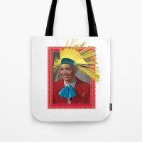megan lara Tote Bags featuring Lara by Robert Cooper