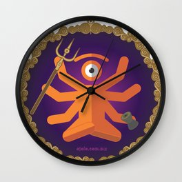 sh.eye.va Wall Clock