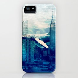 Blue Whale in NYC iPhone Case