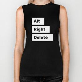 Alt Right Delete Shirts (Dark) Biker Tank