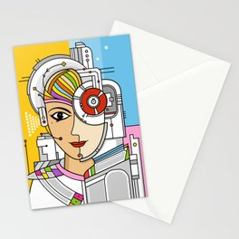 Mujer Robot Stationery Cards