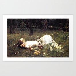 OPHELIA - JOHN WILLIAM WATERHOUSE Art Print