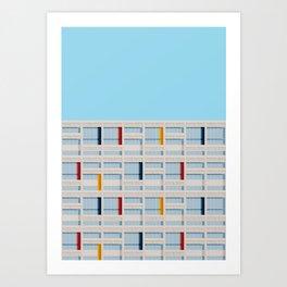 S04-1 - Facade Le Corbusier Art Print