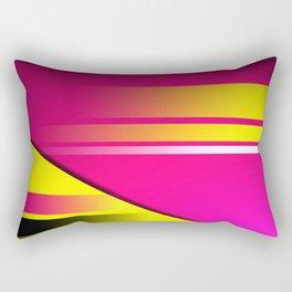 Hot Pink & Yellow Abstract Rectangular Pillow