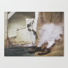 Two Shoes and a Plant  Canvas Print