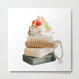 Soap Cream Metal Print
