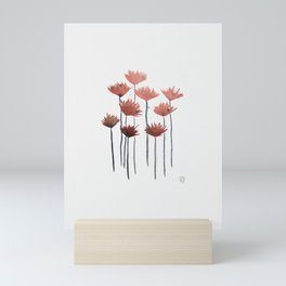 Copper Flowers // Abstract Mini Art Print