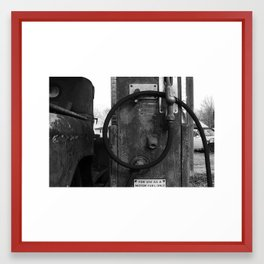 motor fuel only Framed Art Print