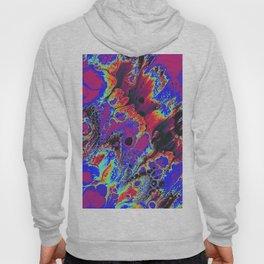 blue trippy psychedelic artwork wall print Hoody