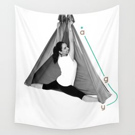 AntiGravity Butterfly Pose Wall Tapestry