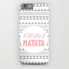 Hakuna Matata II iPhone Case