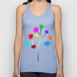 Joshua Tree Pom Poms by CREYES Unisex Tank Top