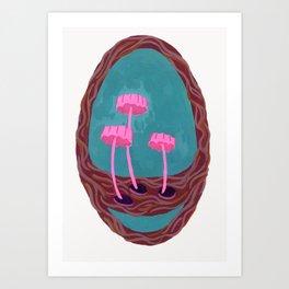 pink shrooms Art Print