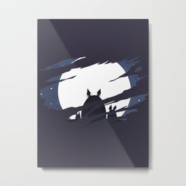 ghibli dark moon Metal Print