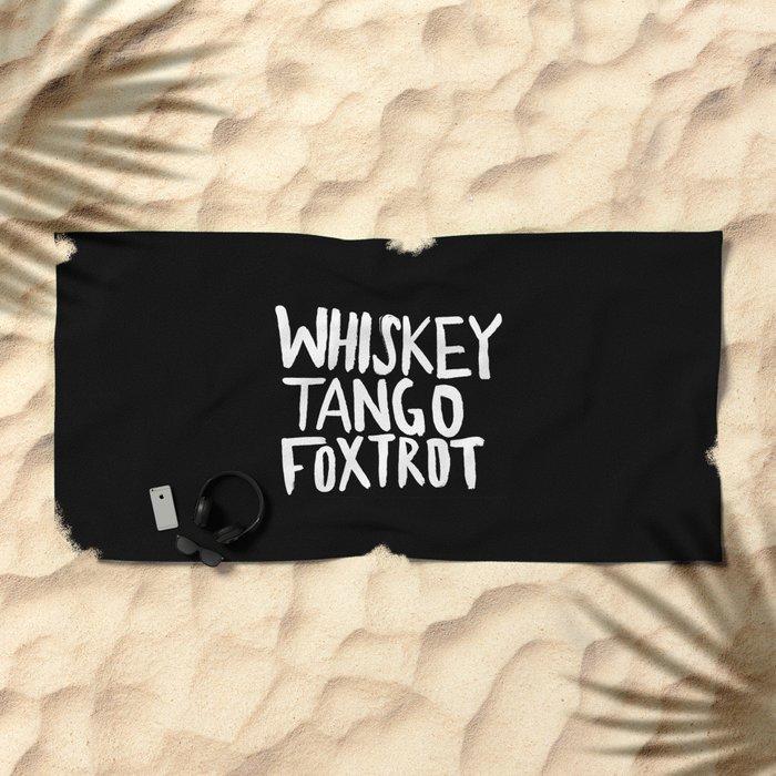 Whiskey Tango Foxtrot x WTF Beach Towel