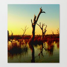 Sculptures in the Swamp Canvas Print
