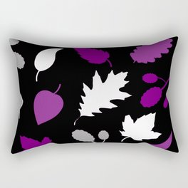 Asexual Pride Autumn Leaves Pattern Rectangular Pillow