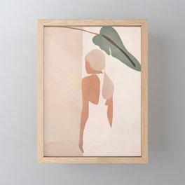 Abstract Woman in a Dress Framed Mini Art Print