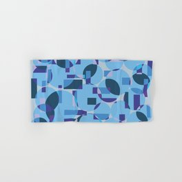 Single pattern of overlapping shapes Hand & Bath Towel