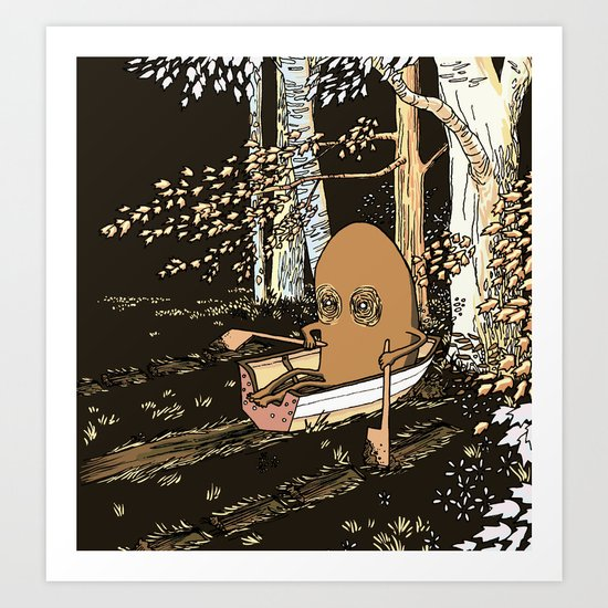Forest Rowing Art Print