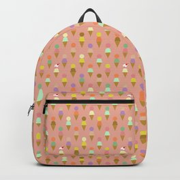 Ice Cream Cone Pattern Pink Robayre Backpack