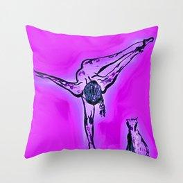 The aura of Sara Throw Pillow
