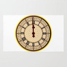 Big Ben Midnight Clock Face Rug