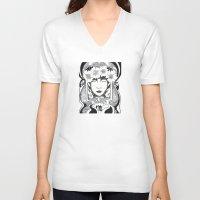 virgo V-neck T-shirts featuring Virgo by Adrienne S. Price