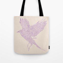 Flight in Swirls Tote Bag