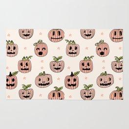 Pumpkin halloween jack-o'-lantern fall autumn carving cute pattern Rug
