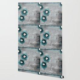 Charcoal Circles Left Wallpaper