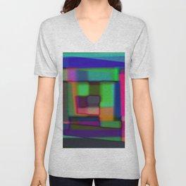 Colored blured background Unisex V-Neck