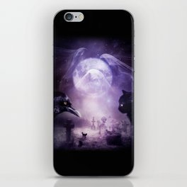 In The Glow of Darkness We Wait iPhone Skin