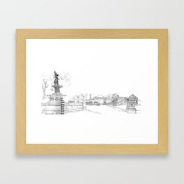 Belvedere Fountain, Central Park, NY Framed Art Print