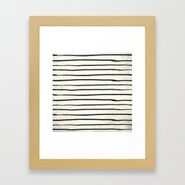 Horizontal Ivory Stripes II Framed Art Print
