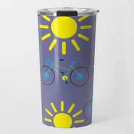 Sunshine And Bicycles Illustration Travel Mug