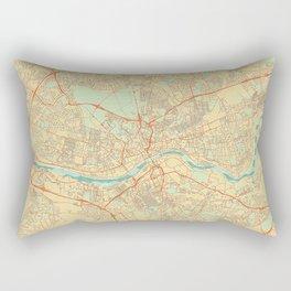 Newcastle upon Tyne Map Retro Rectangular Pillow
