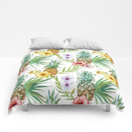 Tropical pineapple pattern Comforters