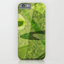 Retro Style Avocado Green Abstract iPhone Case
