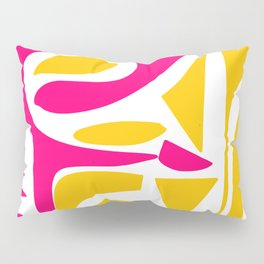 Summer Pop abstract pattern pink and yellow Pillow Sham