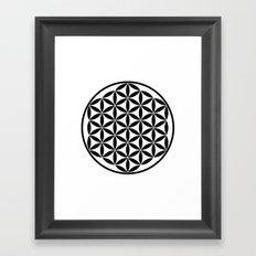 Pure Energy The Flower of Life Framed Art Print