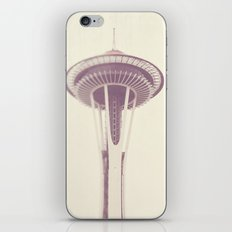 Sleepless. Seattle Space Needle photograph iPhone & iPod Skin