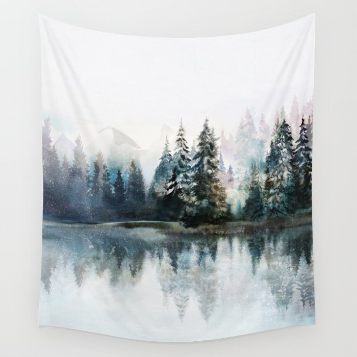 Winter Morning Wall Tapestry