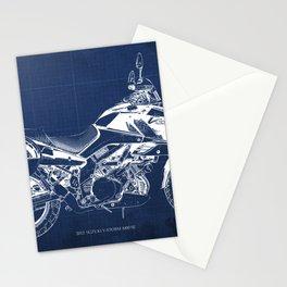 20-2012 Suzuki V-Strom 1000 SE, blueprint motorcycle, man cave decoration Stationery Cards